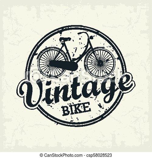 Vintage Bicycle stamp - csp58028523