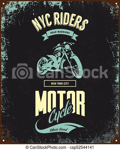6f031609 Vintage bikers club vector t-shirt logo isolated on dark background. premium  quality motorcycle logotype tee-shirt emblem illustration. new york city  road ...