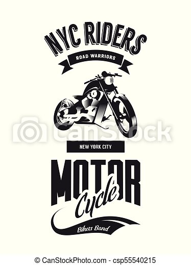 Vintage Bikers Club Vector T Shirt Logo Isolated On White Background