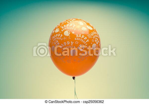 vintage birthday balloon - csp25056362