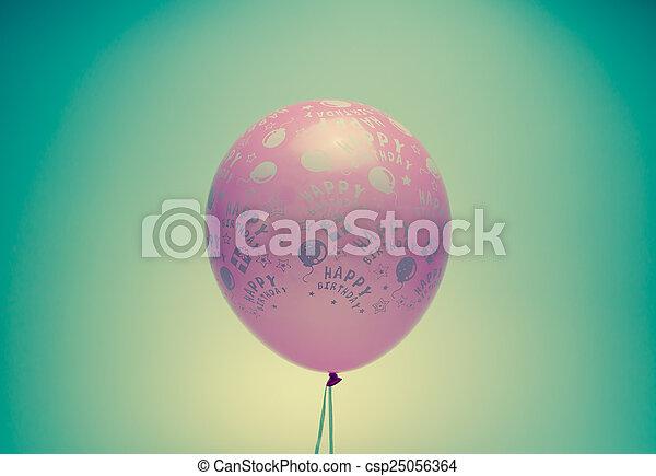 vintage birthday balloon - csp25056364