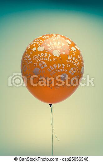 vintage birthday balloon - csp25056346