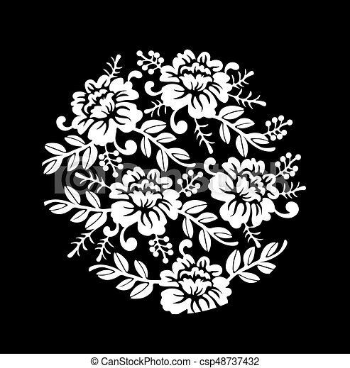 Vintage black and white floral crown vector summer roses silhouette vintage black and white floral crown vector summer roses silhouette pattern hand drawn illustration mightylinksfo