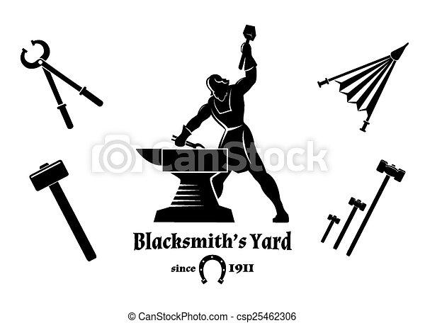 Vintage blacksmith - csp25462306
