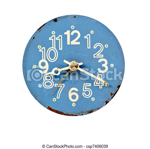 vintage blue and grunge clock dial - csp7406039