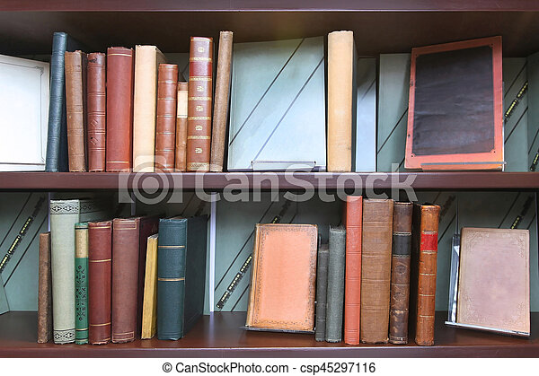 Stock Photography Of Vintage Book Shelf Old Book Shelf With - Old book case