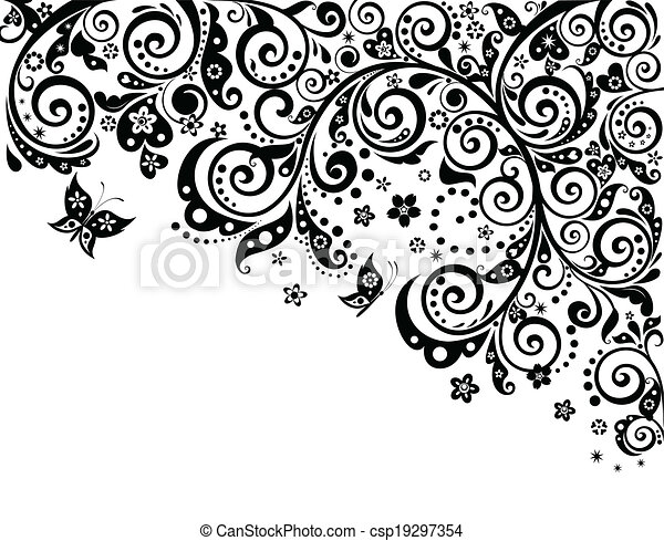 Free PNG Flower Black And White Clip Art Download - PinClipart