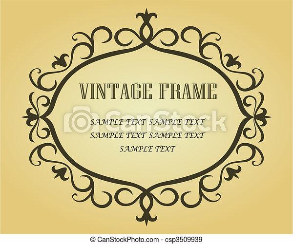 Vintage border - csp3509939