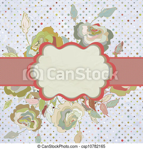 Vintage Border With Flower EPS 8