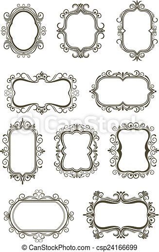 vintage borders and frames retro floral borders and frames with