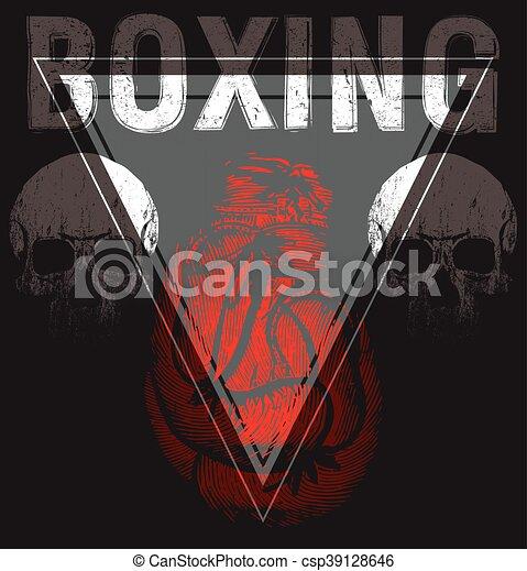 vintage boxing gloves vector illustration template for print t
