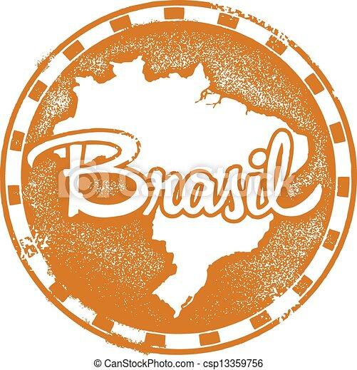 Vintage Brasil Stamp - csp13359756