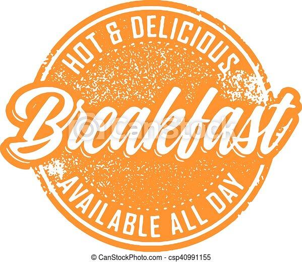 Vintage Breakfast Diner Sign - csp40991155