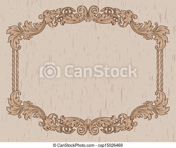 vintage brown frame - csp15026469