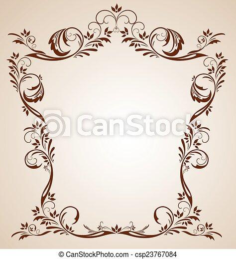Vintage brown frame - csp23767084