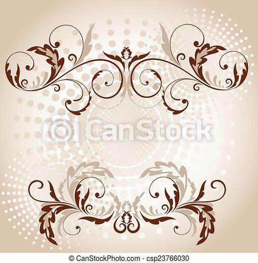 Vintage brown frame - csp23766030