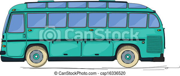 Vintage Bus Cartoon   Csp16336520