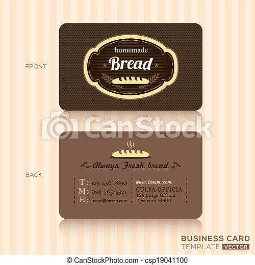 Vintage business card for bakery shop bakery house business card vintage business card for bakery shop csp19041100 reheart Images