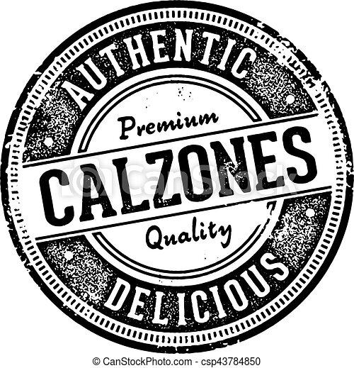 Vintage Calzones Italian Restaurant Sign - csp43784850