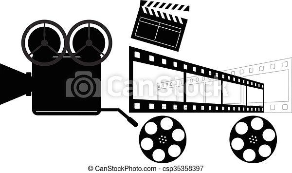 Vintage Camera Directors Clapper Film Reels
