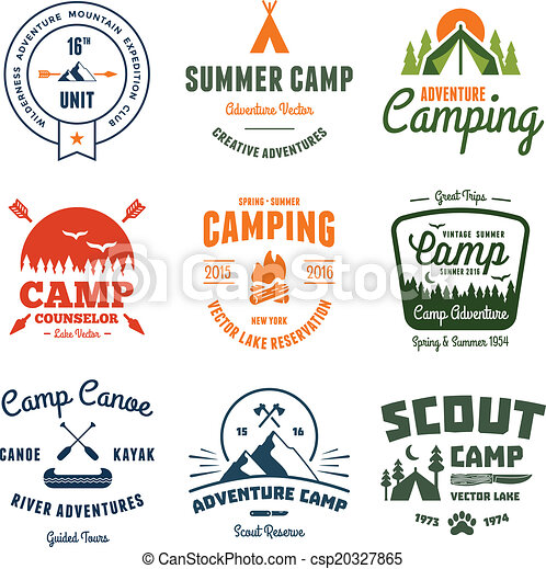 Vintage Camp Graphics Vector