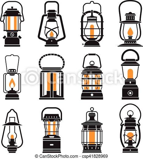Vintage Camping Lantern Labels