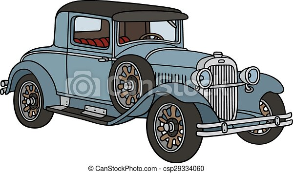 Vintage Car Hand Drawing Of A Vintage Coupe Not A Real Type
