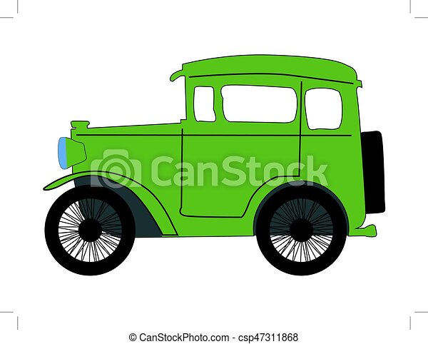 vector illustration of vintage car clip art vector search drawings rh canstockphoto com antique car vector vintage car background vector