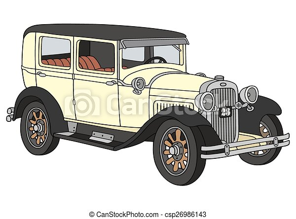 Vintage Car Hand Drawing Of A Vintage Car Not A Real Model