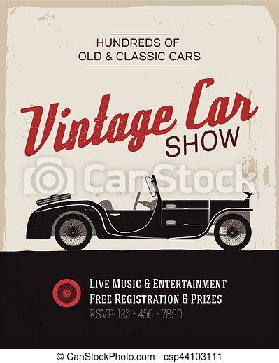 Vintage Car Show Poster Template Vintage Car Show Label Template - Classic car show poster template