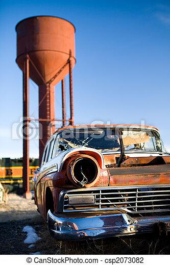 vintage car - csp2073082