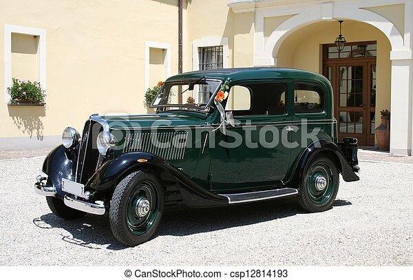 vintage car - csp12814193