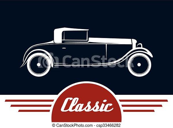 Vintage Car Vehicle Silhouette Classic Vintage Car Vehicle