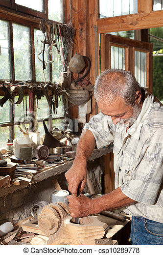 Vintage carpenter - csp10289778
