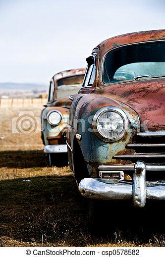 vintage cars vertical version - csp0578582