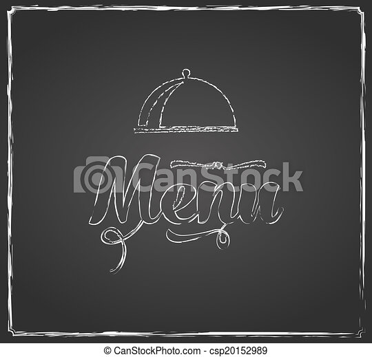 vintage chalkboard menu design with coffee cup vector search clip