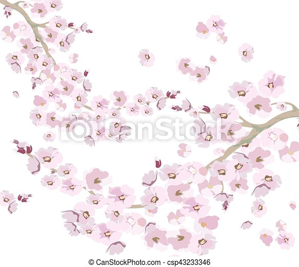 Vintage Cherry Flowers Background