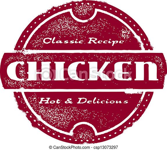 Vintage Chicken Stamp - csp13073297