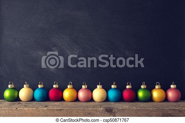Vintage Christmas baubles - csp50871767