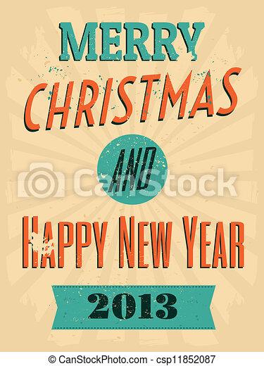 Vintage Christmas Design - csp11852087