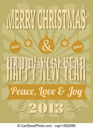 Vintage Christmas Design - csp11852089