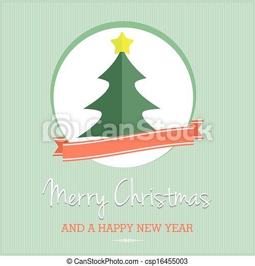 vintage christmas tree - csp16455003