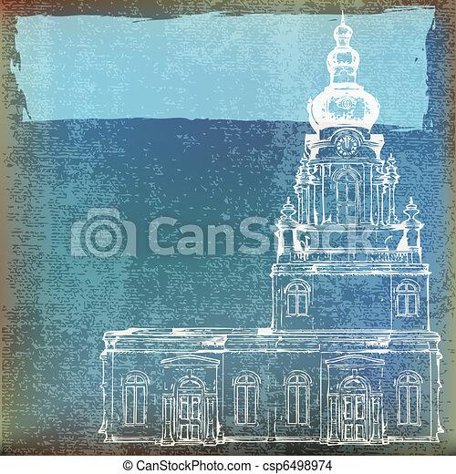 Vintage Church Background - csp6498974