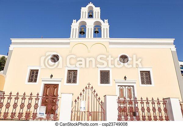 Vintage church in Oia, Santorini - csp23749008