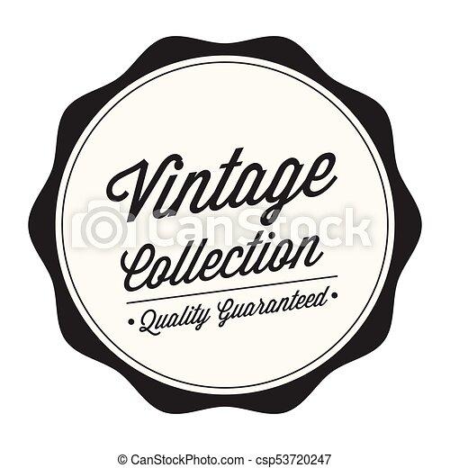 Vintage circle curl vector image.