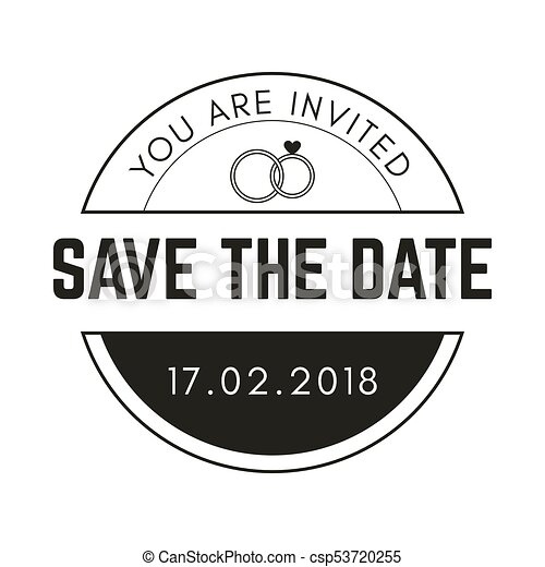Vintage Circle Save The Date Vector Image