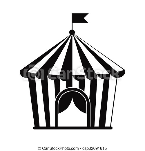 Vintage Circus Tent Simple Icon Vector  sc 1 st  Can Stock Photo & Vintage circus tent simple icon isolated on white background ...