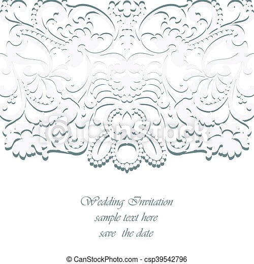 Vintage Classic Wedding Invitation Card