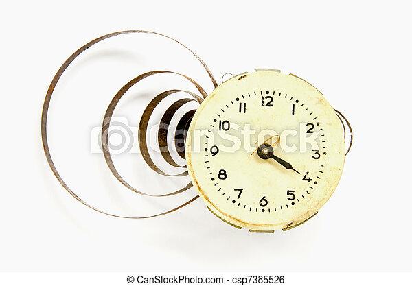 vintage clock dial - csp7385526
