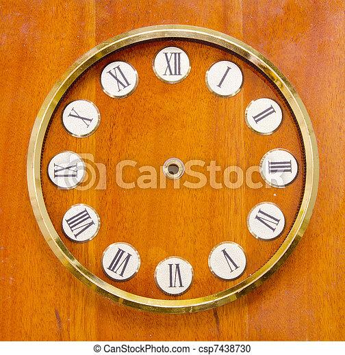 vintage clock dial - csp7438730